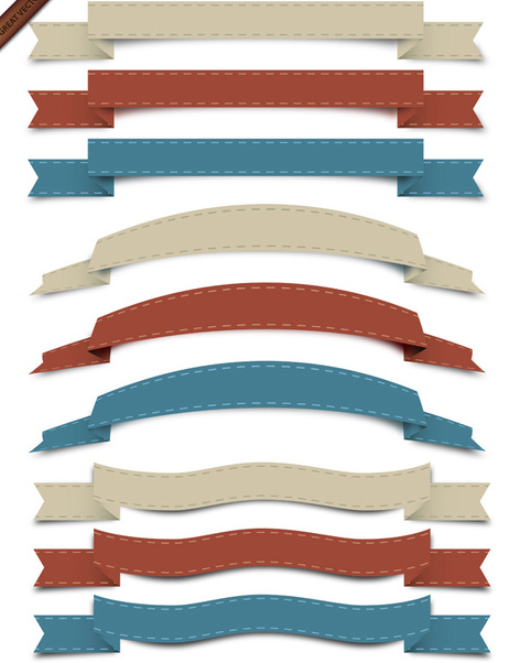 Vector Retro-Ribbon Collection - Kostenloses vector #340037