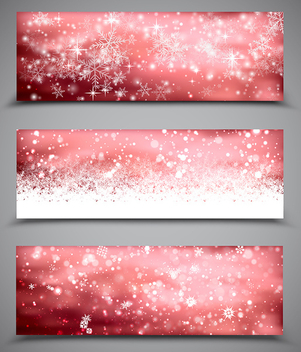 Christmas Banners Set - vector gratuit #340107