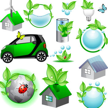 Vector Eco Icons - vector gratuit #340157