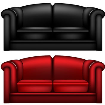 Vector Leather Sofa - vector gratuit #340177
