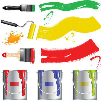 Vector Paint Brush - vector gratuit #340187
