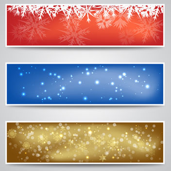 Christmas Banner Backgrounds - vector gratuit #340487