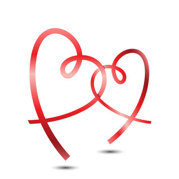 Ribbon Hearts Vector - Free vector #340507