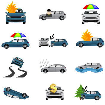 Car Insurance Icons - vector #340747 gratis