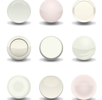 White Vector Buttons - Free vector #340867