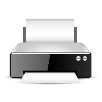Printer Icon - vector #340877 gratis