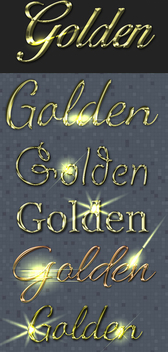 Golden Text Styles - vector #340907 gratis