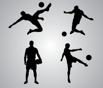 Soccer Player Silhouette - Kostenloses vector #340947