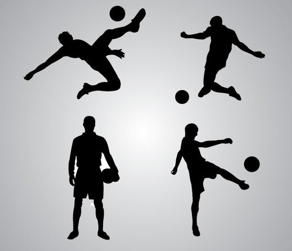 Soccer Player Silhouette - Free vector #340947