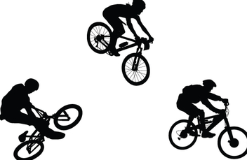 BMX Bicycle Silhouettes - бесплатный vector #340957