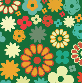 Abstract Multicolored Flowers - Free vector #340997