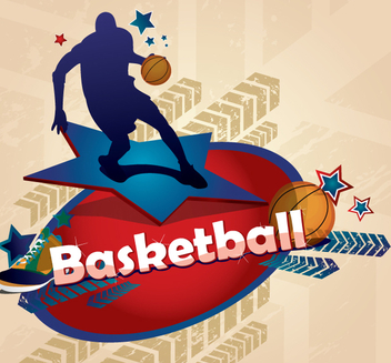 Basketball Poster - vector gratuit #341017