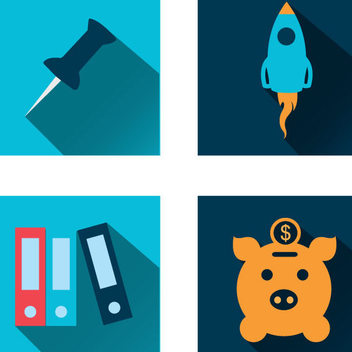 4 Business Icons - vector #341027 gratis