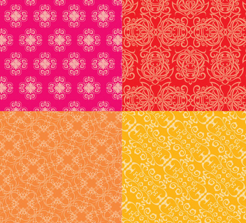 Ornate Floral Patterns - Free vector #341167