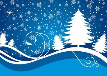 Snowing Waves Christmas Background - vector gratuit #341207