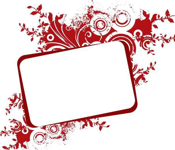 Romantic Red Floral Frame Banner - Free vector #341237