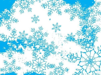 Frozen Abstract Snowflakes Background - vector gratuit #341247