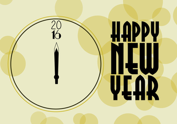 Free New Year Clock Vector - Kostenloses vector #341357
