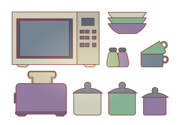 Vector Kitchen Elements - vector gratuit #341557
