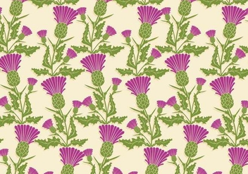 Thistle Pattern Vector - бесплатный vector #341587