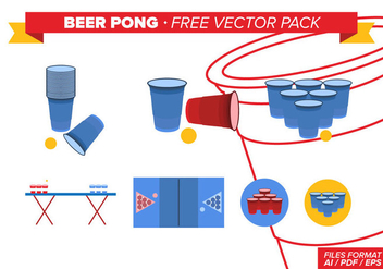 Beer Pong Free Vector Pack - Free vector #341597