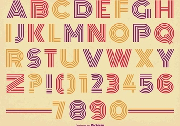 Retro Style Alphabet Set - vector #341627 gratis