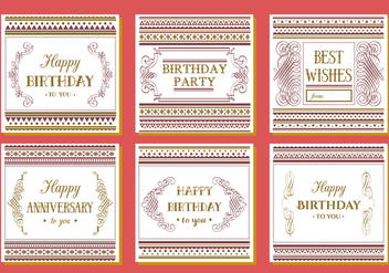 Free Happy Birthday Vector Background - бесплатный vector #341637