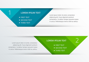 Clean Colorful Banner Style Infography Vector - бесплатный vector #341657