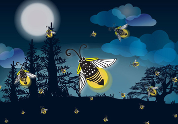 Firefly Nights - vector gratuit #341727