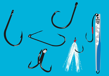 Fishing Hook Vector Illustration - Free vector #341787
