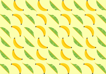 Free Banana Leaves Vector Pattern - vector gratuit #341797