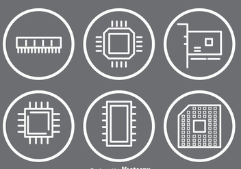 Microchip Icons - vector #341907 gratis