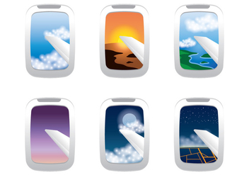 Plane Window View - vector #341957 gratis