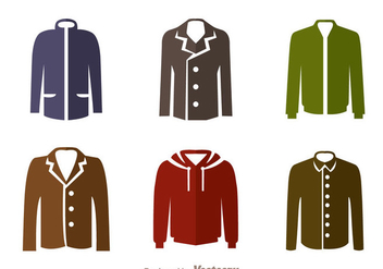 Jacket Flat Icons - Free vector #341977