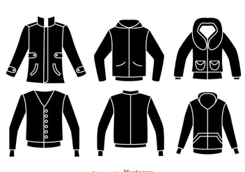 Jacket Black Icons - бесплатный vector #342007