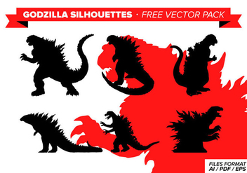 Godzilla Silhouette Free Vector Pack - vector #342207 gratis