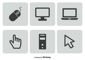Computer Related Icon Set - vector gratuit #342257