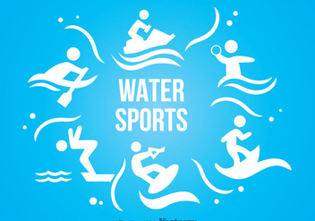 Water Sport Icons - vector #342307 gratis