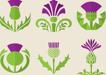Thistle Flowers - Free vector #342617