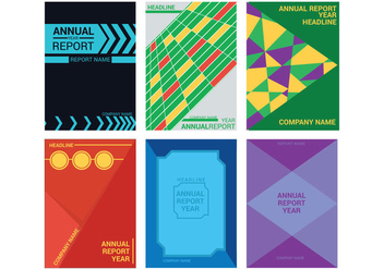 Annual Report Design Vector - vector #342637 gratis