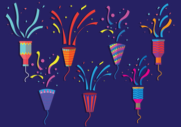 Party Popper Vectors - vector gratuit #342657