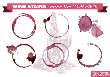Wine Stains Free Vector Pack - бесплатный vector #342927