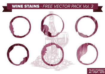 Wine Stains Free Vector Pack Vol. 3 - Free vector #342937