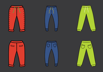Free Sweatpants Vector Illustration - Free vector #342977