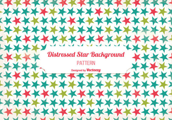 Old Distressed Star Background - vector gratuit #343057