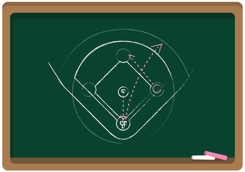 Vector Chalkboard Baseball Diamond - Kostenloses vector #343157
