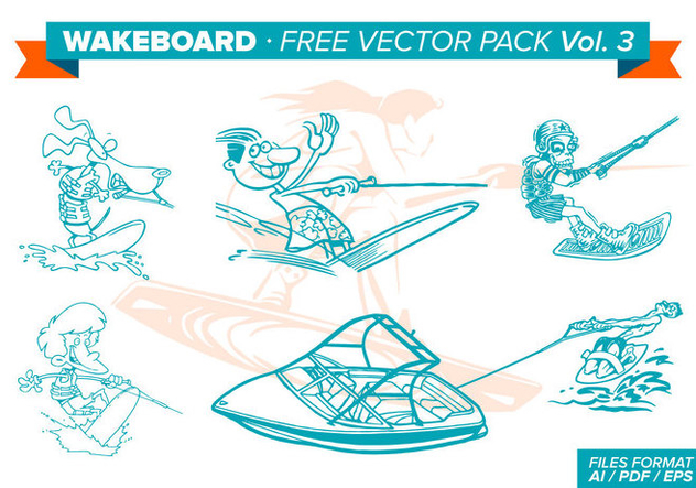 Wakeboard Free Vector Pack Vol. 3 - Free vector #343297