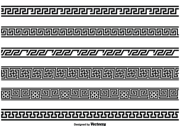 Greek Key Style Border Set - vector #343687 gratis