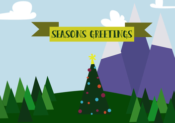 Free Christmas Mountains Vector - Free vector #343807