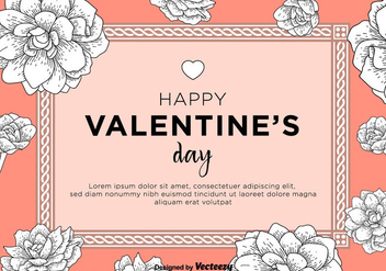 Happy Valentine's Day Card - vector gratuit #344277